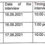 GMC Doda interview schedule for FMPHW/ MMPHW, Lab Assistant, Data entry operator.