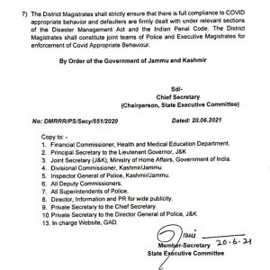 J&K Govt allows more activities in eight district.