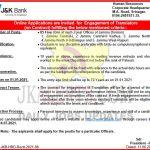 JKBANK Jobs Recruitment 2021 Complete notification