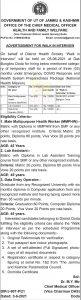 JKNHM Doda Jobs Recruitment 2021