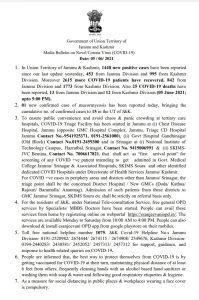JK District wise COVID19 update 05 June 2021.