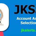 JKSSB Account Assistant Selection List.