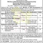 National Skill Training Institute NSTI Admission Notification.