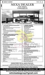 Nexa Udhampur Jobs recruitment 2021.