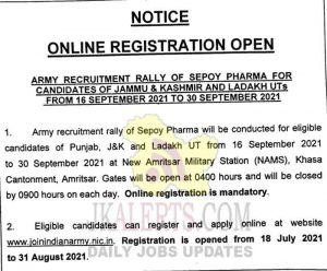 Army Recruitment Rally update 2021.
