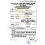 JKBOSE Date Sheet Class 10th Bi-Annual/Annual Private WZ Jammu.