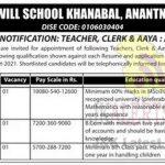 Army Goodwill School Khanabal Jobs