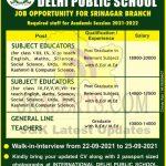 IDPS Srinagar Jobs Recruitment 2021.