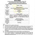 JKBOSE Class 10th Date sheet Jammu, Leh.