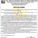 JKBOSE Decision regarding declaration Class 11th result.