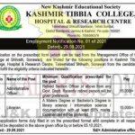 Kashmir Tibbia College Hospital & Research Centre jobs.
