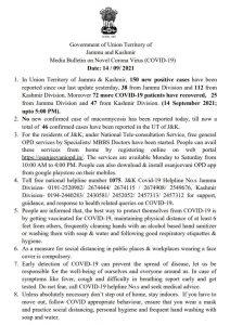 JK COVID 19 Update 14 Sept 2021