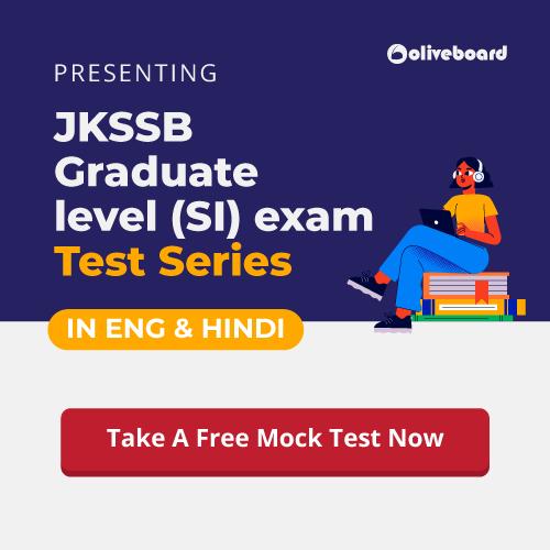 Take free mock test for JKSSB SI exam: https://www.oliveboard.in/jkssb-graduate-level-post/?ref=Affljkalert