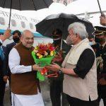 Amit Shah arrives in Srinagar