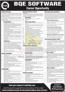 BQE Software Srinagar Jobs.