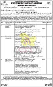 J&K Govt ITI Gool Jobs