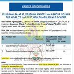 J&K PMJAY jobs recruitment 2021.