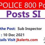 JKPolice SI Jobs 800 posts.