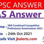 KAS Answer Key 2021.