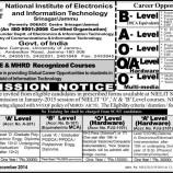 NIELIT Admission notice  2014