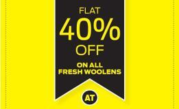 Sale 40% off on fresh woolens