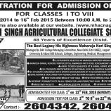 MAHARAJA HARI SINGH AGRICULTURAL COLLEGIATE SCHOOL, NAGBANI
