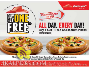 Pizza Hut Buy one get one free offer