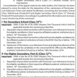 Revision of Dates for Deposition of Fee and Submission of Permission-cum-Admission Forms