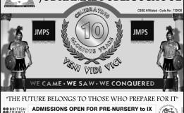 ADMISSIONS OPEN IN JODHAMAL SCHOOL 2015