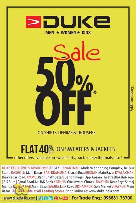 Duke sale on Men, Women, Kids Wear, Sweaters and Jackets