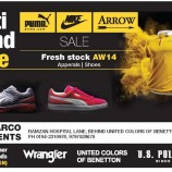 Sale on fresh stock apparels and shoes