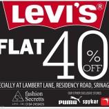 Sale on Levi's, Flat 40% Off
