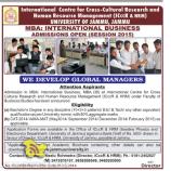 International Business Admission open Session 2015 Jammu university