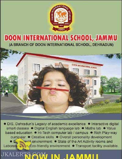 Admission open in Doon School Jammu