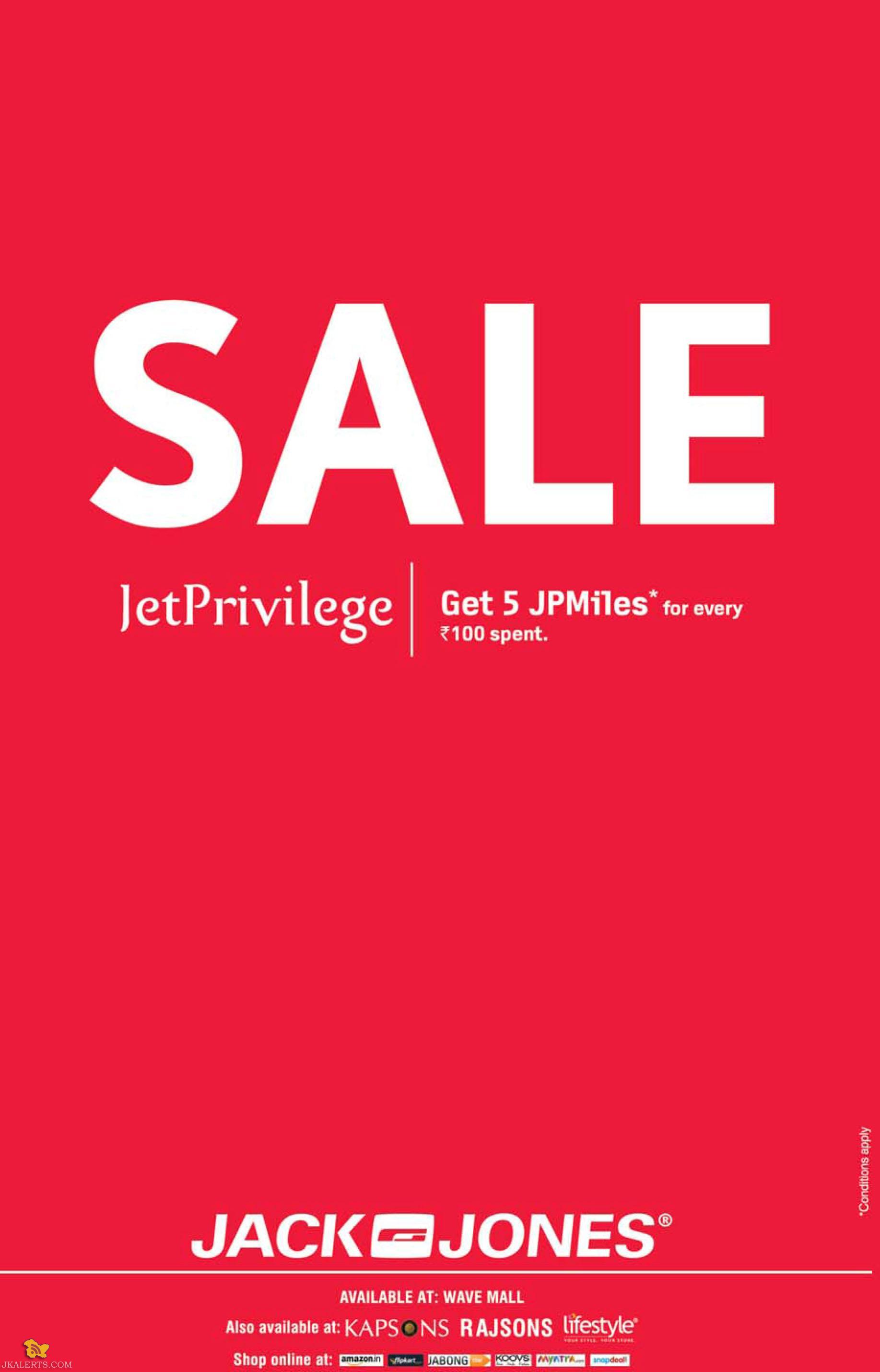 Sale on Jack and Jones