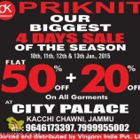 Priknit Sale At City Palace