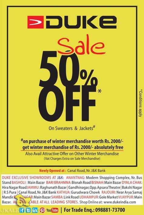 Winter sale on duke