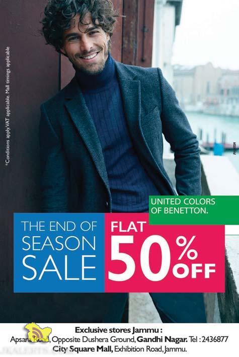 United Colors of Bentton Sale Flat 50% off