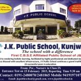 Admission open J.K. Public School, Kunjwani
