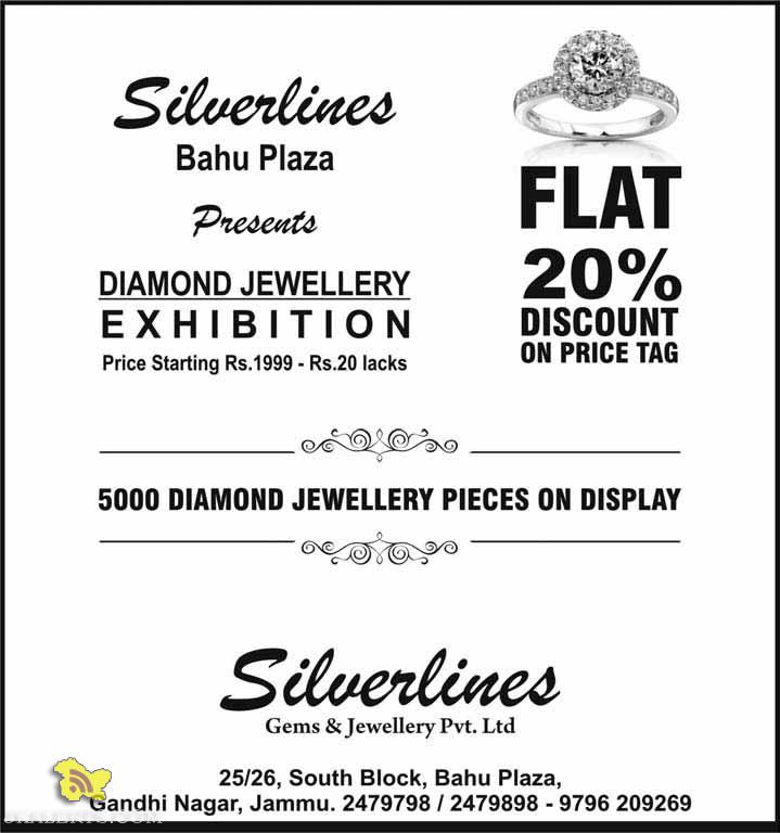 Silverlines Bahu Plaza presents, DIAMOND JEWELLERY EXHIBITION
