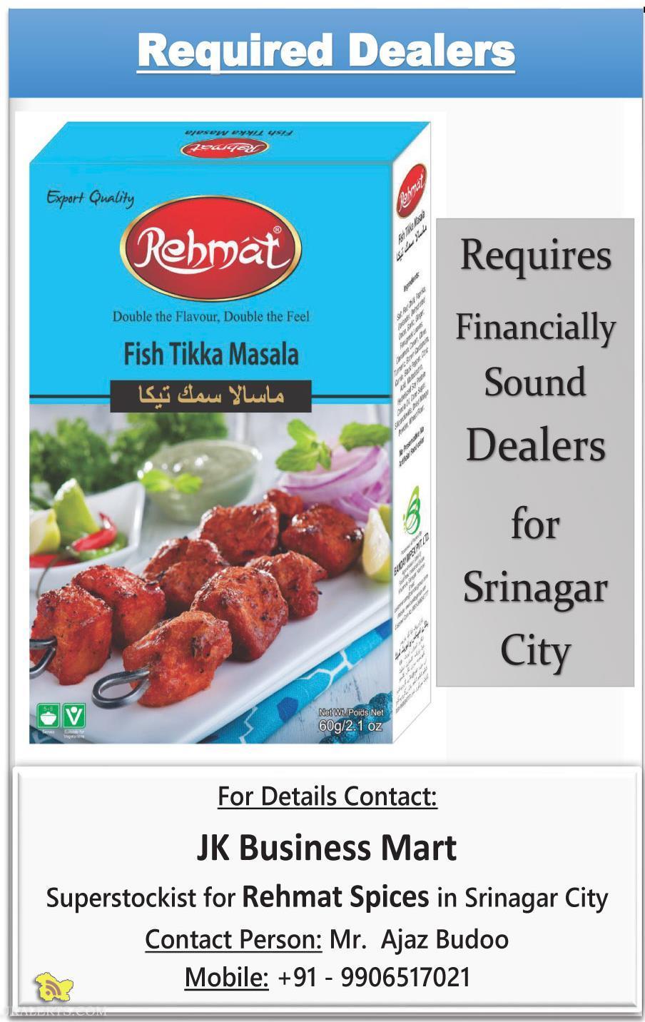 Rehmat Masala Required Dealers for srinagar city