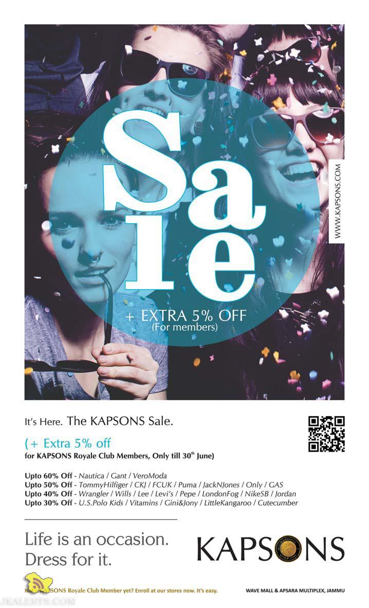 Kapsons sale , Latest offers, discounts, deals in J&k