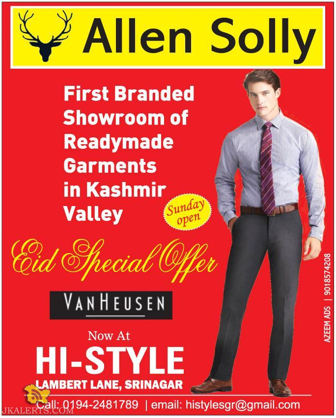 End of Season Sale on Allen Solly, Summer 2015