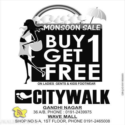Monsoon sale in citywalk on Ladies Gents and Kids Footwear