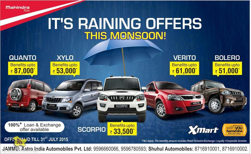 Monsoon Offer on Mahindra , Astro India Automobile