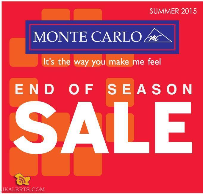 End of Season Sale on Monte Carlo, Summer 2015