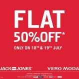 Sale on Jack and Jones Vero Moda, Flat 50% off in wave mall, lifestyle , Justblues, Kapsons