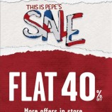 Sale is on Pepe Jeans , Flat 40% off