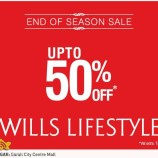 Wills end of season sale , Latest offers deals discounts on garments