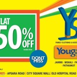 Yougal Sons Flat 50% off, Branded showroom in J&K